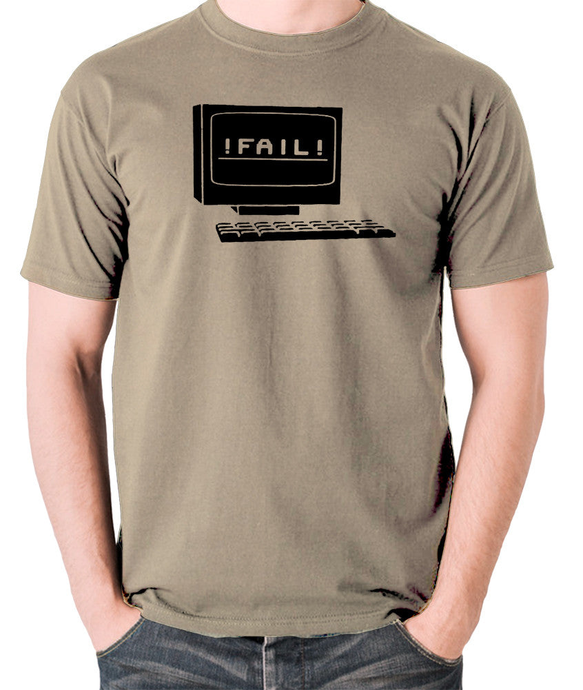 IT Crowd - Fail - Men's T Shirt - khaki