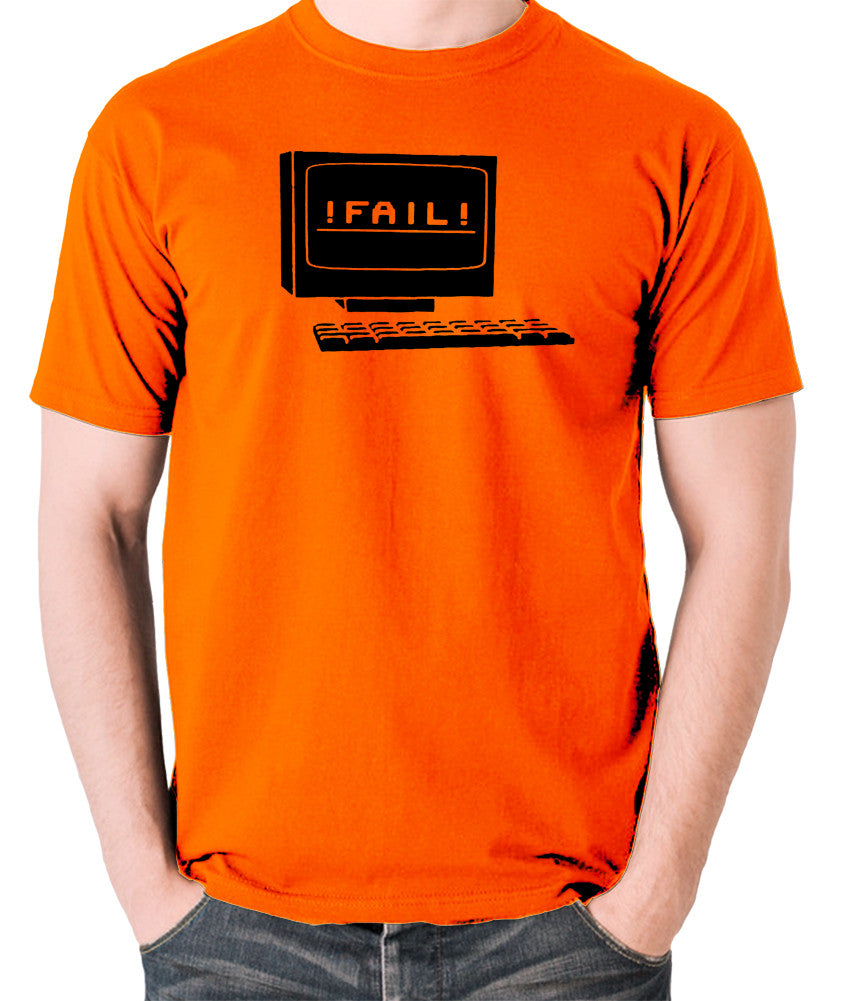 IT Crowd - Fail - Men's T Shirt - orange