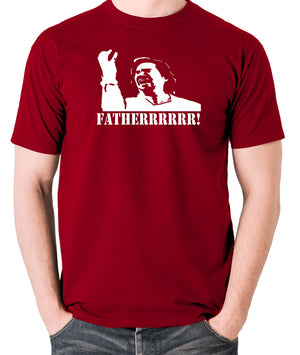 IT Crowd - Douglas, Fatherrrrr - Men's T Shirt - brick red