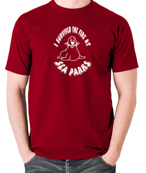IT Crowd - I Survived The Fire At Seaparks - Men's T Shirt - brick red