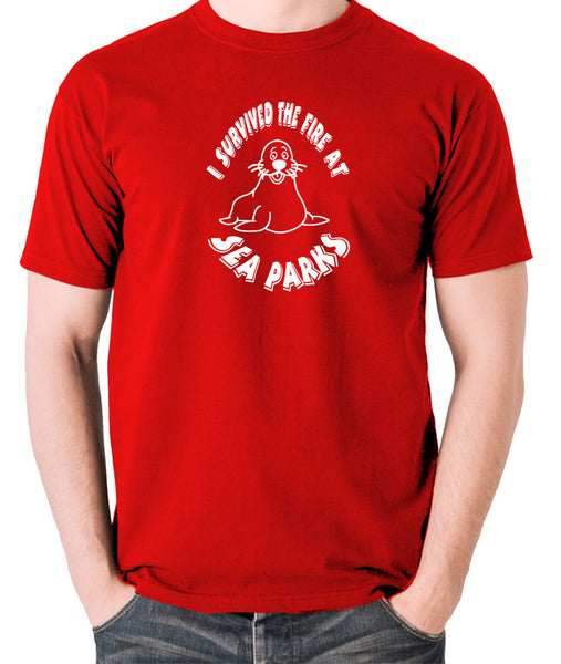 IT Crowd - I Survived The Fire At Seaparks - Men's T Shirt - red