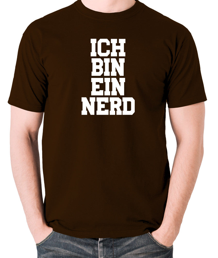IT Crowd - Ich Bin Ein Nerd - Men's T Shirt - chocolate