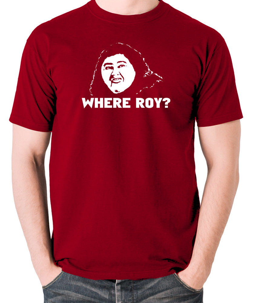IT Crowd - Judy, Where Roy? - Men's T Shirt - brick red