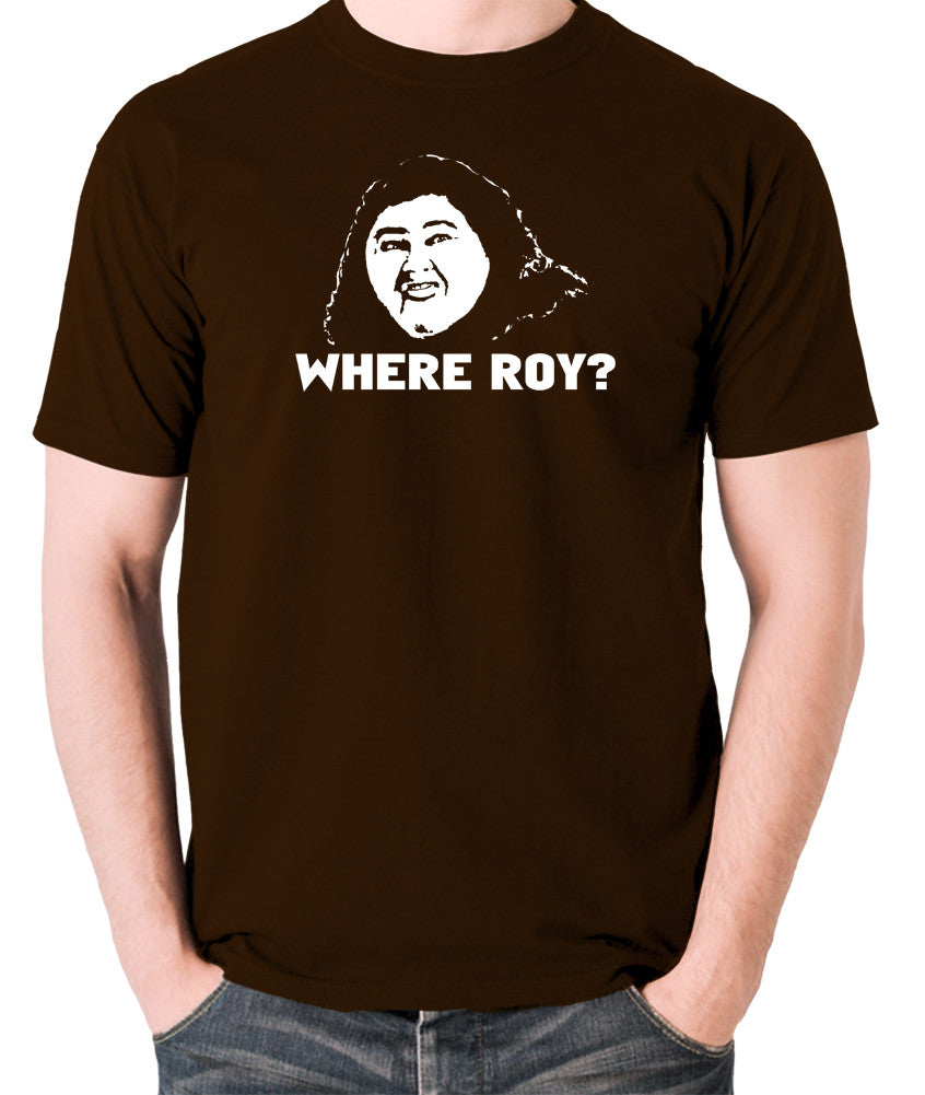 IT Crowd - Judy, Where Roy? - Men's T Shirt - chocolate