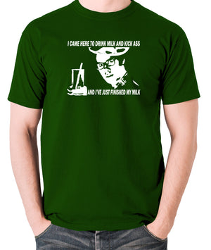 IT Crowd - Moss, I Came Here To Drink Milk And Kick Ass - Men's T Shirt - green