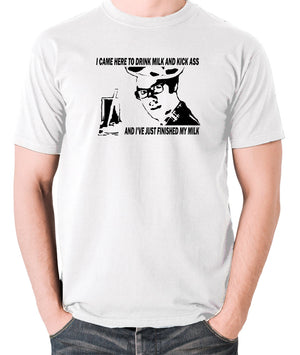 IT Crowd - Moss, I Came Here To Drink Milk And Kick Ass - Men's T Shirt - white