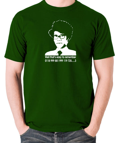 IT Crowd - Moss, Well That's Easy To Remember - Men's T Shirt - green