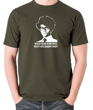 IT Crowd - Moss, Would I Blow Everyone's Mind If I Ate Dessert First? - Men's T Shirt - olive