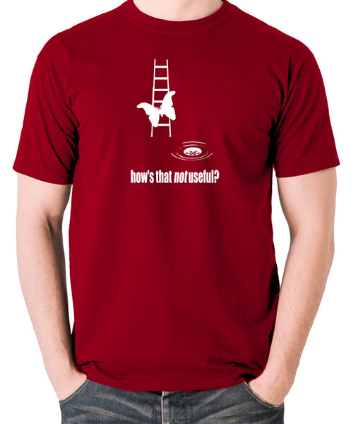 IT Crowd - Moth Ladder How Is That Not Useful? - Men's T Shirt - brick red