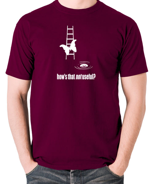 IT Crowd - Moth Ladder How Is That Not Useful? - Men's T Shirt - burgundy