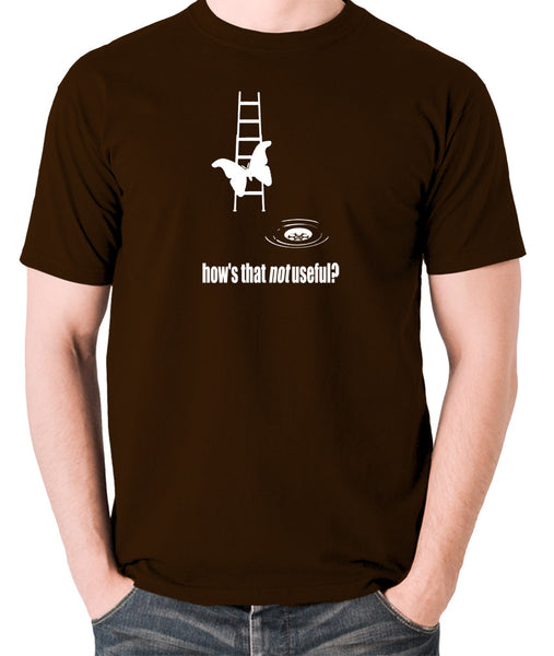 IT Crowd - Moth Ladder How Is That Not Useful? - Men's T Shirt - chocolate