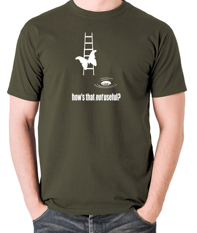 IT Crowd - Moth Ladder How Is That Not Useful? - Men's T Shirt - olive