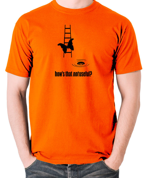 IT Crowd - Moth Ladder How Is That Not Useful? - Men's T Shirt - orange