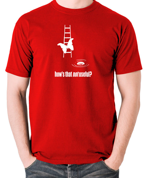 IT Crowd - Moth Ladder How Is That Not Useful? - Men's T Shirt - red