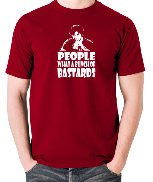 IT Crowd - Roy, People What A Bunch Of Bastards - Men's T Shirt - brick red