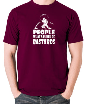 IT Crowd - Roy, People What A Bunch Of Bastards - Men's T Shirt - burgundy