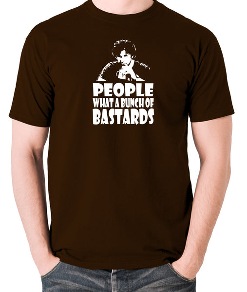 IT Crowd - Roy, People What A Bunch Of Bastards - Men's T Shirt - chocolate