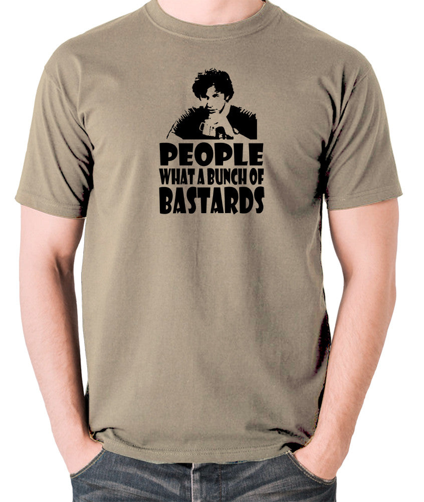 IT Crowd - Roy, People What A Bunch Of Bastards - Men's T Shirt - khaki