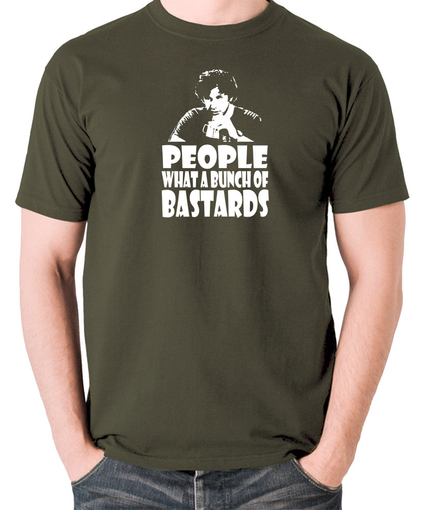 IT Crowd - Roy, People What A Bunch Of Bastards - Men's T Shirt - olive