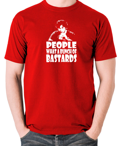 IT Crowd - Roy, People What A Bunch Of Bastards - Men's T Shirt - red