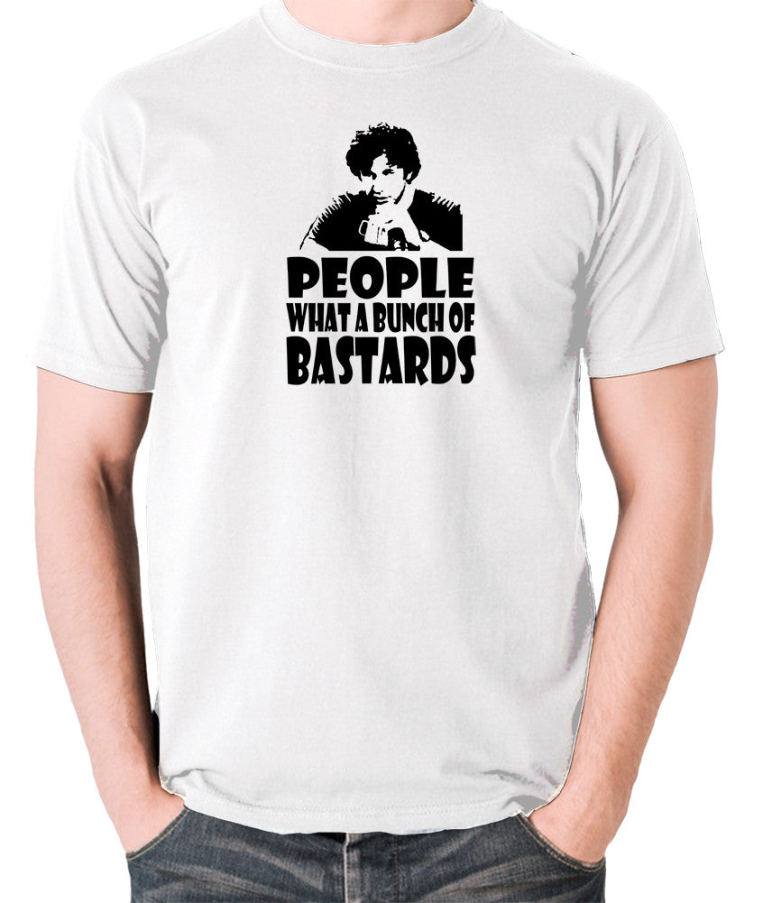 IT Crowd - Roy, People What A Bunch Of Bastards - Men's T Shirt - white