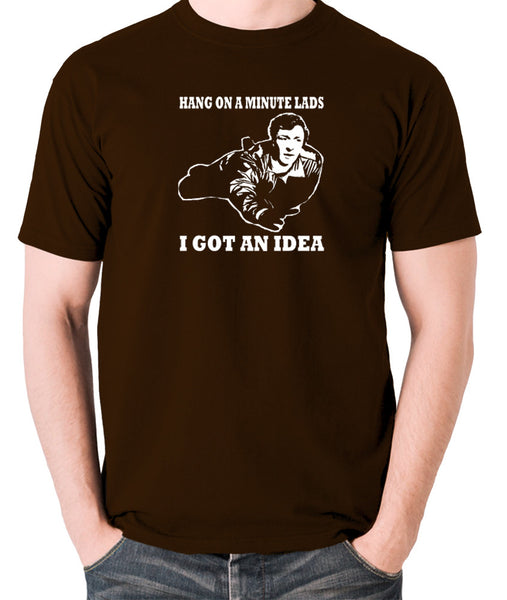 The Italian Job - Charlie, Hang On A Minute Lads - Men's T Shirt - chocolate