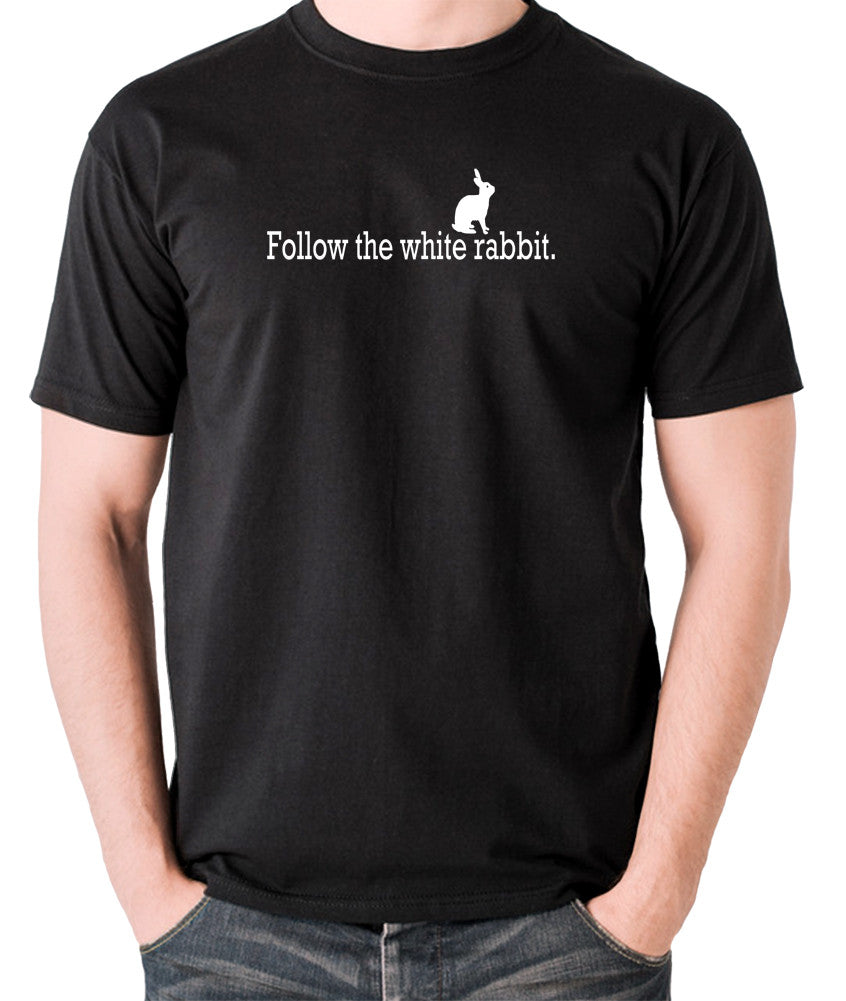 The Matrix - Follow The White Rabbit - Men's T Shirt - black