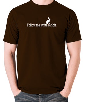 The Matrix - Follow The White Rabbit - Men's T Shirt - chocolate