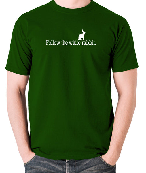 The Matrix - Follow The White Rabbit - Men's T Shirt - green