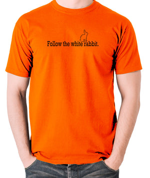 The Matrix - Follow The White Rabbit - Men's T Shirt - orange