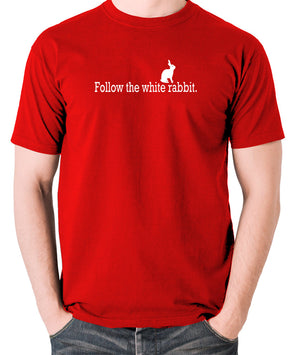 The Matrix - Follow The White Rabbit - Men's T Shirt - red
