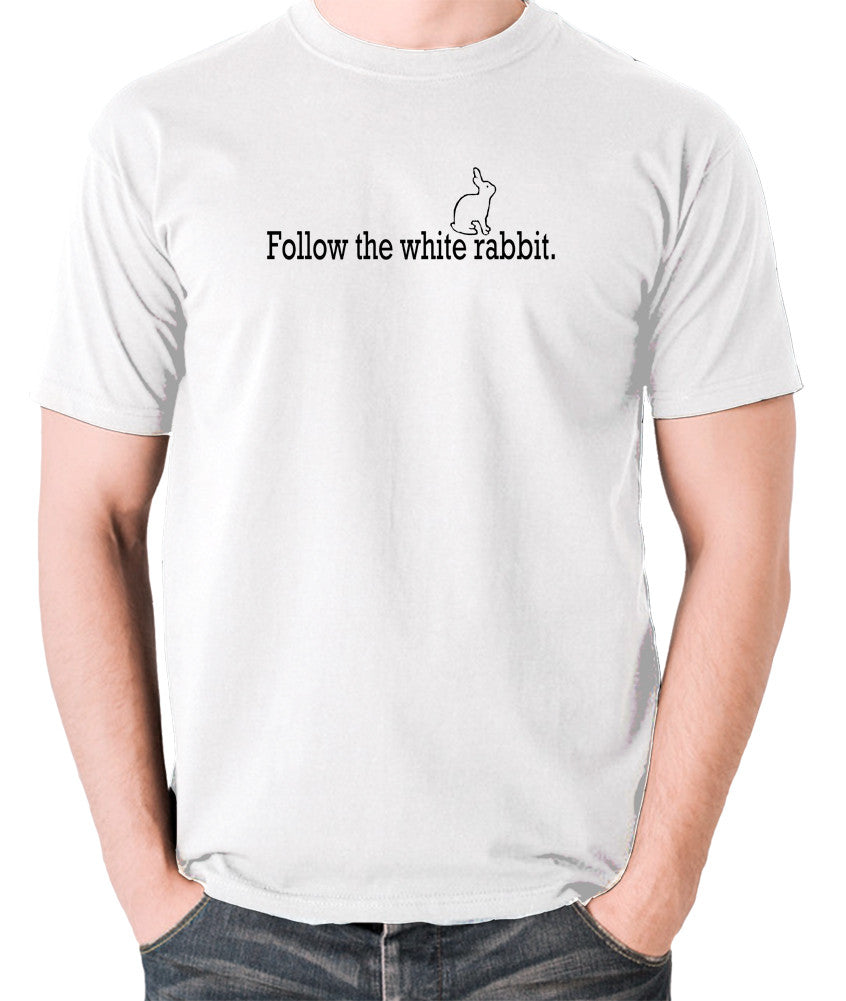 The Matrix - Follow The White Rabbit - Men's T Shirt - white