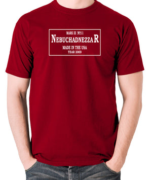 The Matrix - The Nebuchadnezzar Plate - Men's T Shirt - brick red
