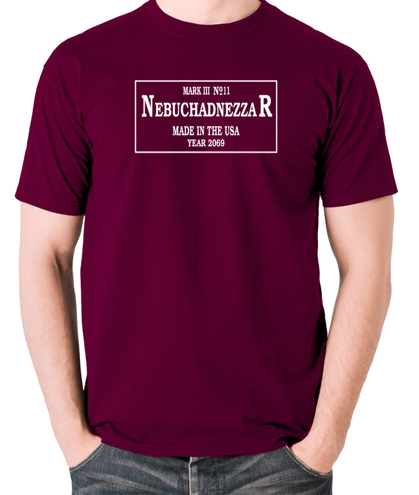 The Matrix - The Nebuchadnezzar Plate - Men's T Shirt - burgundy