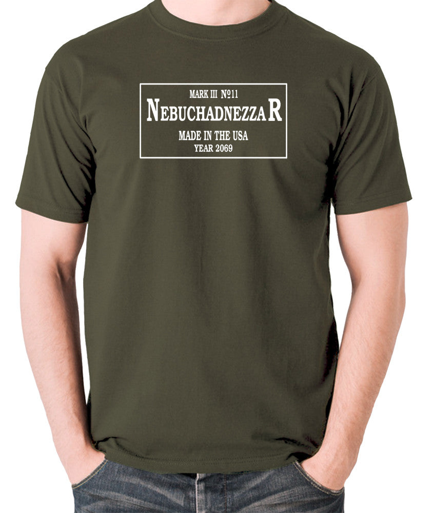 The Matrix - The Nebuchadnezzar Plate - Men's T Shirt - olive