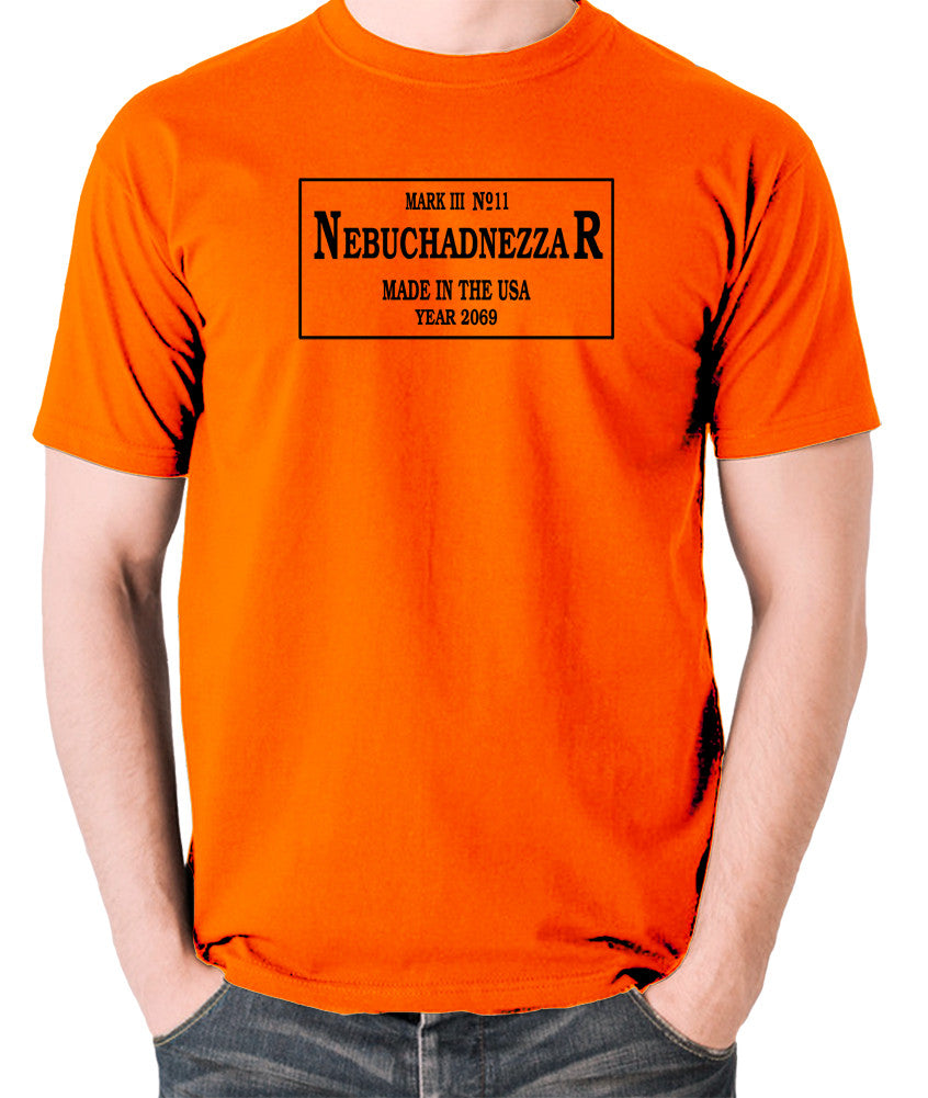 The Matrix - The Nebuchadnezzar Plate - Men's T Shirt - orange