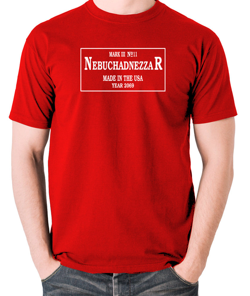 The Matrix - The Nebuchadnezzar Plate - Men's T Shirt - red