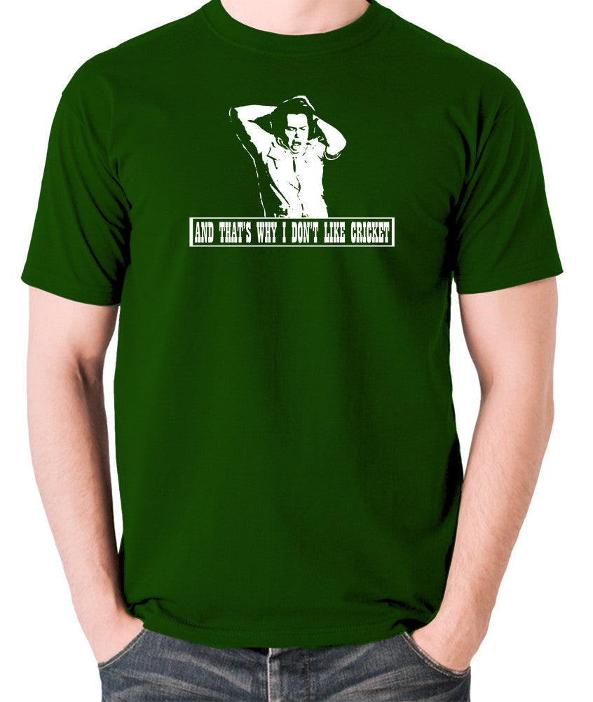 The Mighty Boosh - Bob Fossil, And That's Why I Don't Like Cricket - Men's T Shirt - green