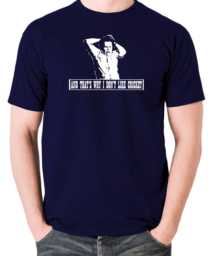 The Mighty Boosh - Bob Fossil, And That's Why I Don't Like Cricket - Men's T Shirt - navy