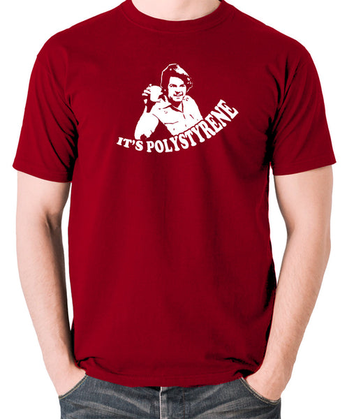The Mighty Boosh - Bob Fossil, It's Polystyrene - Men's T Shirt - brick red
