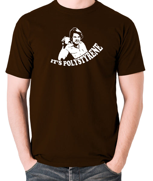 The Mighty Boosh - Bob Fossil, It's Polystyrene - Men's T Shirt - chocolate