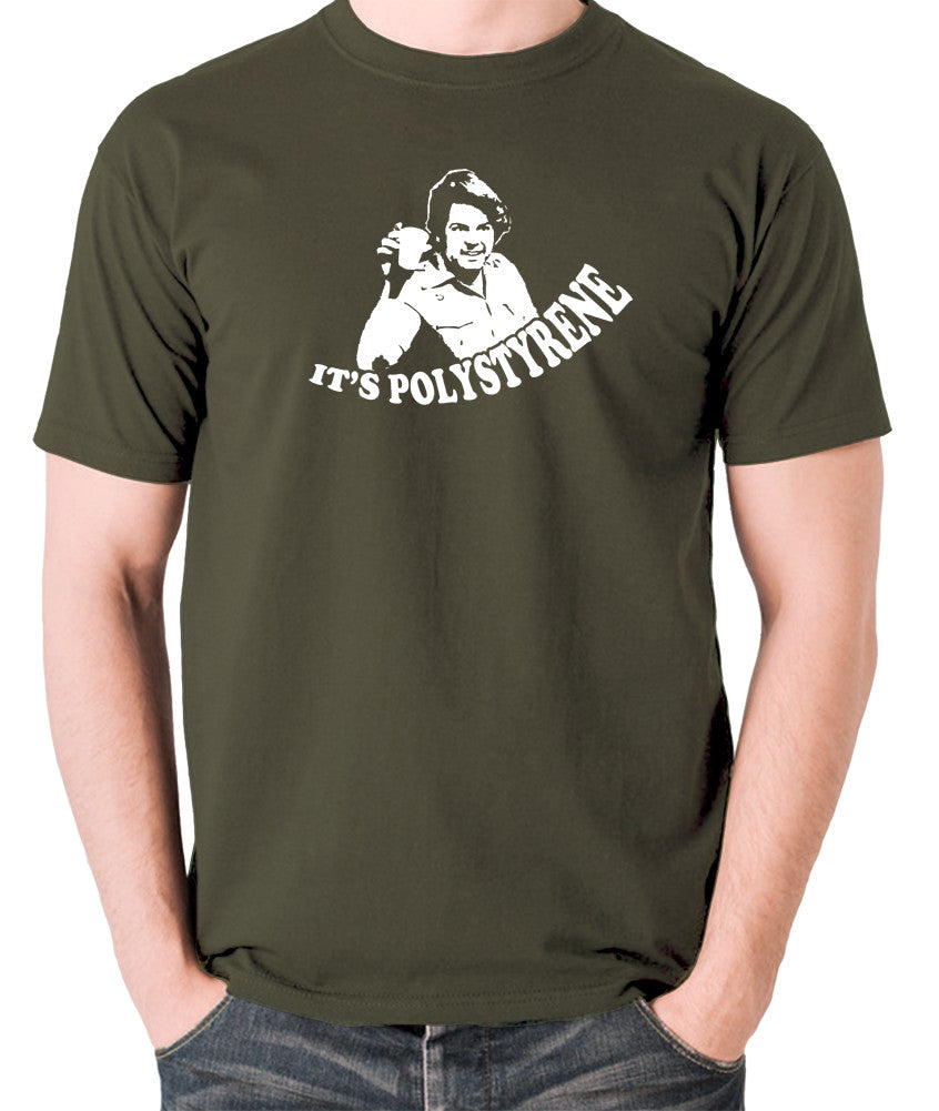 The Mighty Boosh - Bob Fossil, It's Polystyrene - Men's T Shirt - olive