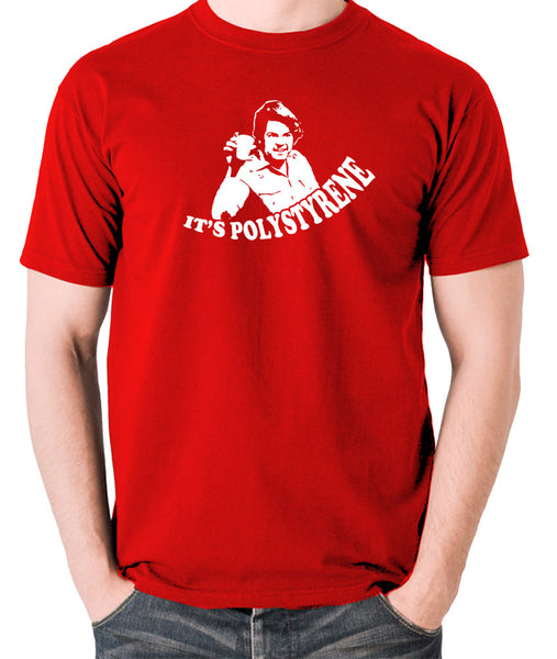 The Mighty Boosh - Bob Fossil, It's Polystyrene - Men's T Shirt - red