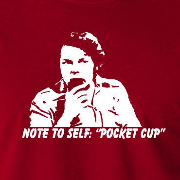 The Mighty Boosh - Bob Fossil Note To Self, Pocket Cup - Men's T Shirt