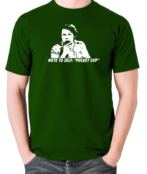 The Mighty Boosh - Bob Fossil Note To Self, Pocket Cup - Men's T Shirt - green