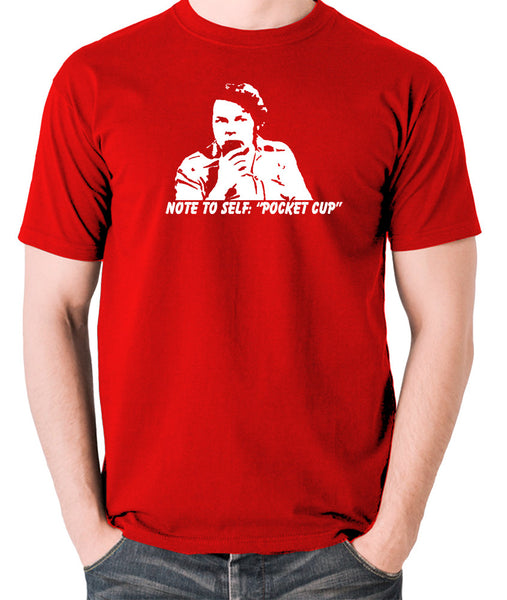 The Mighty Boosh - Bob Fossil Note To Self, Pocket Cup - Men's T Shirt - red