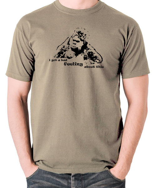 The Mighty Boosh - Bollo, I Got a Bad Feeling About This - Men's T Shirt - khaki
