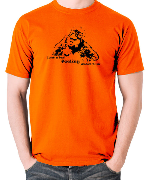 The Mighty Boosh - Bollo, I Got a Bad Feeling About This - Men's T Shirt - orange