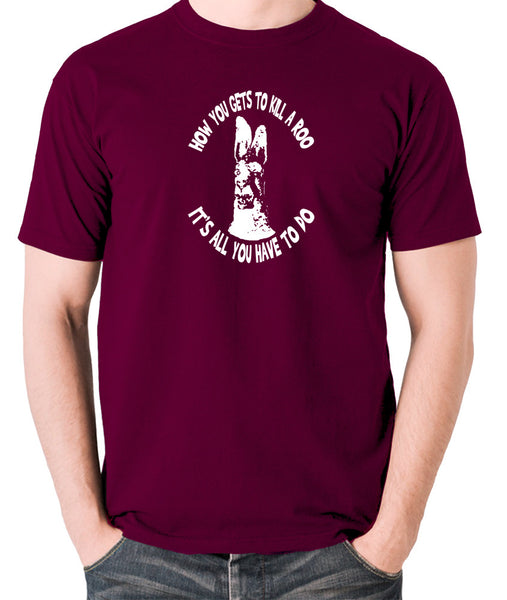 The Mighty Boosh - How You Gets To Killeroo - Men's T Shirt - burgundy
