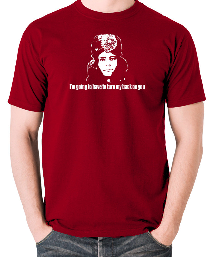 The Mighty Boosh - Naboo, I'm Going To Have To Turn My Back On You - Men's T Shirt - brick red